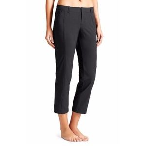 Athleta Black Nylon Palisade Ankle Pant Sz 8